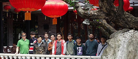 Group photo in one of the most famous classical gardens in Foshan, a city next to Guangzhou.